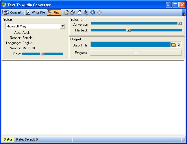 File audio processor text to audio converter